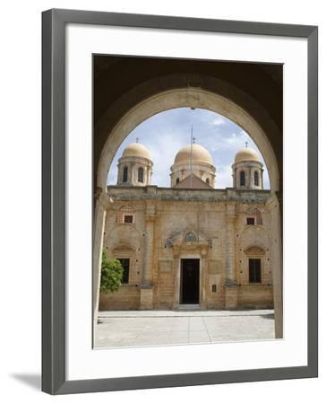 Entrance of Monastery, Agia Triada Monastery (Moni Zangarolo), Akrotiri Peninsula, Chania Region, C-Stuart Black-Framed Photographic Print