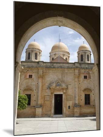 Entrance of Monastery, Agia Triada Monastery (Moni Zangarolo), Akrotiri Peninsula, Chania Region, C-Stuart Black-Mounted Photographic Print