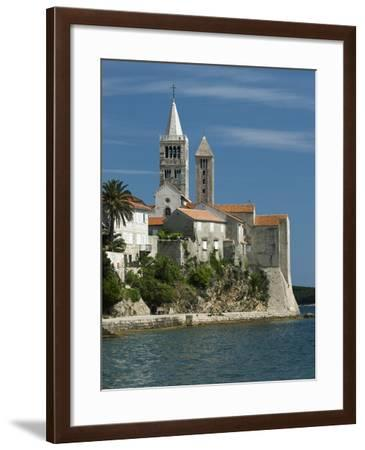 View of Old Town and Campaniles, Rab Town, Rab Island, Kvarner Gulf, Croatia, Adriatic, Europe-Stuart Black-Framed Photographic Print