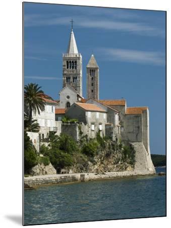 View of Old Town and Campaniles, Rab Town, Rab Island, Kvarner Gulf, Croatia, Adriatic, Europe-Stuart Black-Mounted Photographic Print