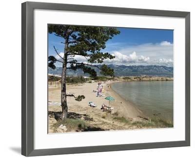 Beach on the Lopar Peninsula, Rab Island, Kvarner Gulf, Croatia, Adriatic, Europe-Stuart Black-Framed Photographic Print