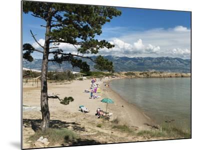 Beach on the Lopar Peninsula, Rab Island, Kvarner Gulf, Croatia, Adriatic, Europe-Stuart Black-Mounted Photographic Print