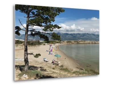 Beach on the Lopar Peninsula, Rab Island, Kvarner Gulf, Croatia, Adriatic, Europe-Stuart Black-Metal Print