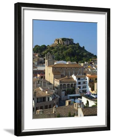 Ruined Castle Above Old Town, Begur, Costa Brava, Catalonia, Spain, Europe-Stuart Black-Framed Photographic Print
