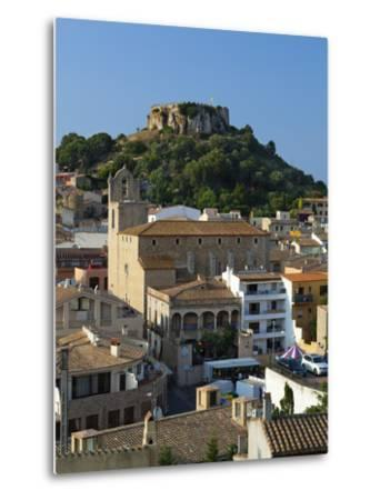 Ruined Castle Above Old Town, Begur, Costa Brava, Catalonia, Spain, Europe-Stuart Black-Metal Print