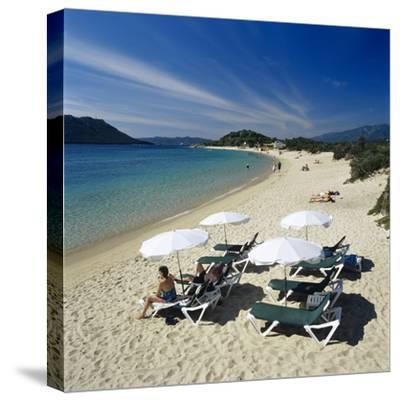 Beach View, Cala Rossa, Southeast Corsica, Corsica, France, Mediterranean, Europe-Stuart Black-Stretched Canvas Print