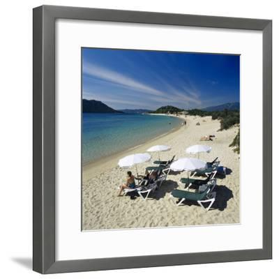 Beach View, Cala Rossa, Southeast Corsica, Corsica, France, Mediterranean, Europe-Stuart Black-Framed Photographic Print