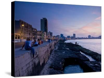 The Malecon, Havana, Cuba, West Indies, Central America-Ben Pipe-Stretched Canvas Print