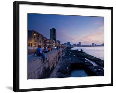 The Malecon, Havana, Cuba, West Indies, Central America-Ben Pipe-Framed Photographic Print