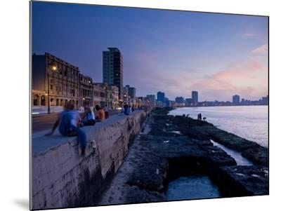 The Malecon, Havana, Cuba, West Indies, Central America-Ben Pipe-Mounted Photographic Print