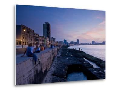 The Malecon, Havana, Cuba, West Indies, Central America-Ben Pipe-Metal Print