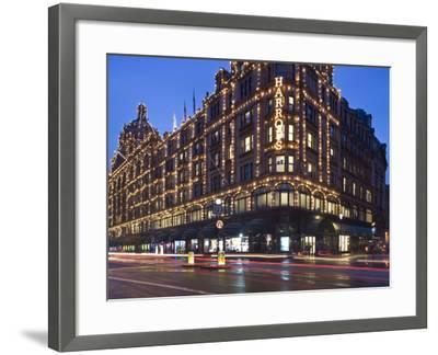 Harrods, Kensington, London, England, United Kingdom, Europe-Ben Pipe-Framed Photographic Print