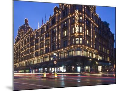 Harrods, Kensington, London, England, United Kingdom, Europe-Ben Pipe-Mounted Photographic Print