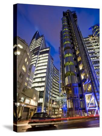 Lloyds Building, City of London, London, England, United Kingdom, Europe-Ben Pipe-Stretched Canvas Print