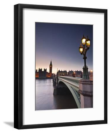 Looking across the River Thames Towards the Houses of Parliament and Westminster Bridge, London, En-Julian Elliott-Framed Premium Photographic Print