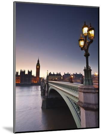 Looking across the River Thames Towards the Houses of Parliament and Westminster Bridge, London, En-Julian Elliott-Mounted Photographic Print