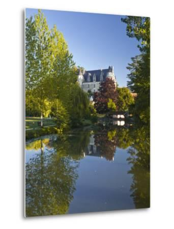 The Castle in the Beautiful Village of Montresor, Indre-Et-Loire, Loire Valley, Centre, France, Eur-Julian Elliott-Metal Print