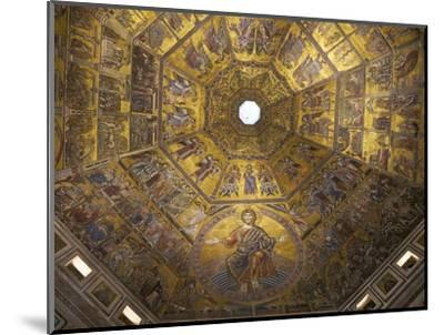 Enthroned Christ, by Coppo Di Marcovaldo, 13th Century Mosaics, Cupola Ceiling, Baptistry, Florence-Peter Barritt-Mounted Photographic Print