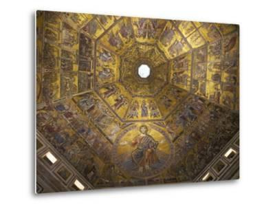 Enthroned Christ, by Coppo Di Marcovaldo, 13th Century Mosaics, Cupola Ceiling, Baptistry, Florence-Peter Barritt-Metal Print