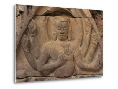 Detail of Carving of Hindu Divinity, Cham Ruins of My Son, UNESCO World Heritage Site, Near Hoi An,-Stuart Black-Metal Print