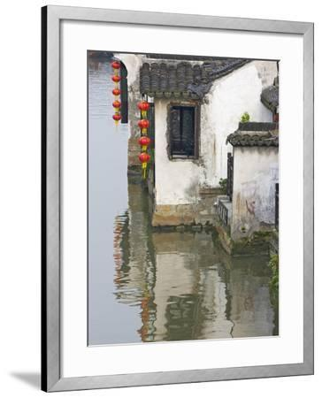 Old Residence Along the Grand Canal, Xitang, Zhejiang, China-Keren Su-Framed Photographic Print