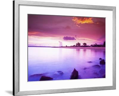 Beautiful Sunset, Bali, Indonesia-Micah Wright-Framed Photographic Print