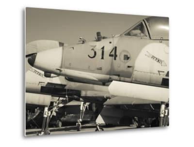Graveyard of Us-Built A-4 Fighters, Israeli Air Force Museum, Be-Er Sheva, the Negev, Israel-Walter Bibikow-Metal Print