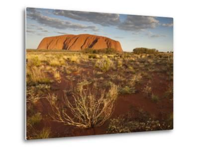 Sun Lights Sand Desert, Ayers Rock, Northern Territory, Uluru-Kata Tjuta National Park, Australia-Paul Souders-Metal Print