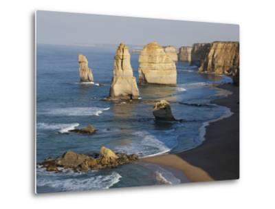Morning Sun on Twelve Apostles, Tasman Sea, Port Campbell National Park, Victoria, Australia-Paul Souders-Metal Print