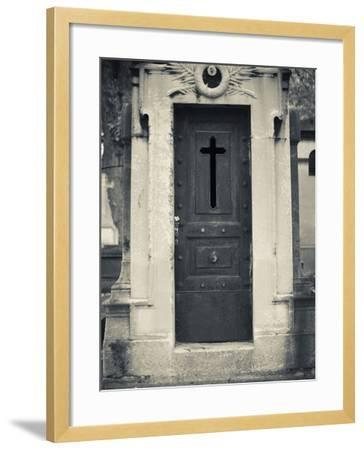 Cemetery Detail, Montparnasse Cemetery, Paris, France-Walter Bibikow-Framed Photographic Print