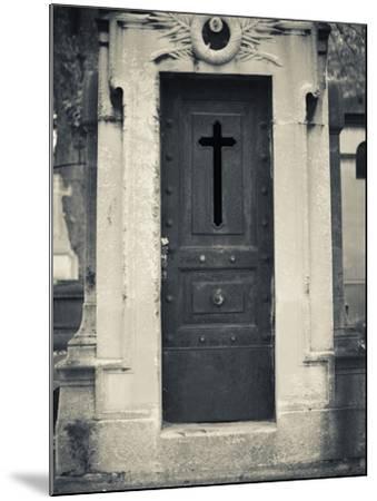 Cemetery Detail, Montparnasse Cemetery, Paris, France-Walter Bibikow-Mounted Photographic Print