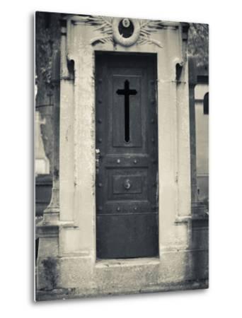 Cemetery Detail, Montparnasse Cemetery, Paris, France-Walter Bibikow-Metal Print