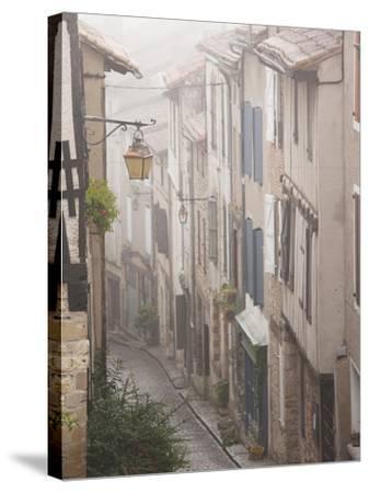 Buildings by Place De La Trinite, Cordes-Sur-Ciel, Tarn Department, Midi-Pyrenees Region, France-Walter Bibikow-Stretched Canvas Print