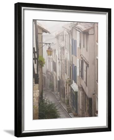 Buildings by Place De La Trinite, Cordes-Sur-Ciel, Tarn Department, Midi-Pyrenees Region, France-Walter Bibikow-Framed Photographic Print
