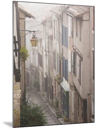 Buildings by Place De La Trinite, Cordes-Sur-Ciel, Tarn Department, Midi-Pyrenees Region, France-Walter Bibikow-Mounted Photographic Print