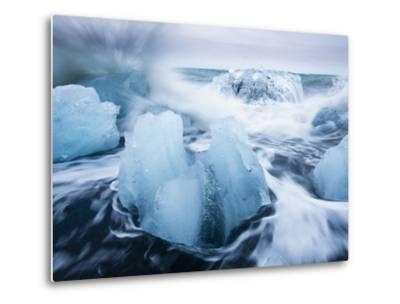 Icebergs from Vatnajokull Glacier, North Atlantic, Jokulsarlon, Skaftafell National Park, Iceland-Paul Souders-Metal Print