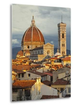 Duomo, Florence Cathedral at Sunset, Basilica of Saint Mary of the Flower, Florence, Italy-Adam Jones-Metal Print