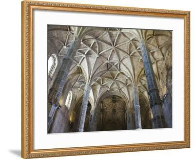 15th Century Interior of the Church of Santa Maria, Lisbon, Portugal-John Loggins-Framed Photographic Print