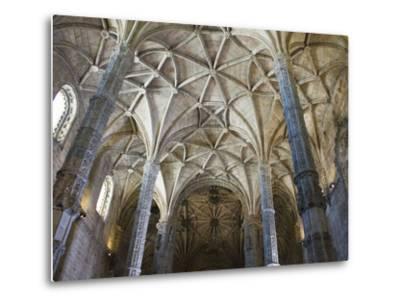 15th Century Interior of the Church of Santa Maria, Lisbon, Portugal-John Loggins-Metal Print