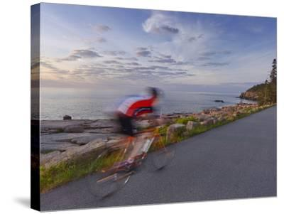 Road Bicycling in Acadia National Park, Maine, Usa-Chuck Haney-Stretched Canvas Print