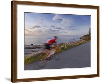 Road Bicycling in Acadia National Park, Maine, Usa-Chuck Haney-Framed Photographic Print