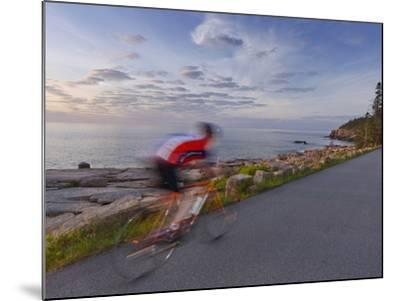 Road Bicycling in Acadia National Park, Maine, Usa-Chuck Haney-Mounted Photographic Print