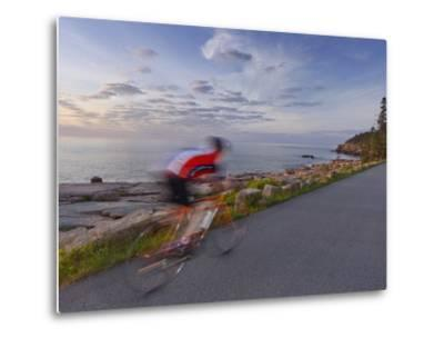 Road Bicycling in Acadia National Park, Maine, Usa-Chuck Haney-Metal Print