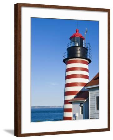 West Quoddy Head Light at Quoddy Head State Park in Lubec, Maine, Easternmost Point of Usa-Jerry & Marcy Monkman-Framed Photographic Print