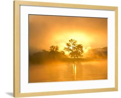 Fog on the Missouri River at the Upper Missouri River Breaks National Monument, Montana, Usa-Chuck Haney-Framed Photographic Print