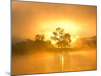 Fog on the Missouri River at the Upper Missouri River Breaks National Monument, Montana, Usa-Chuck Haney-Mounted Photographic Print