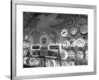 Johnnies Classic Gas Museum, Dixon, New Mexico, Usa-Julian McRoberts-Framed Photographic Print