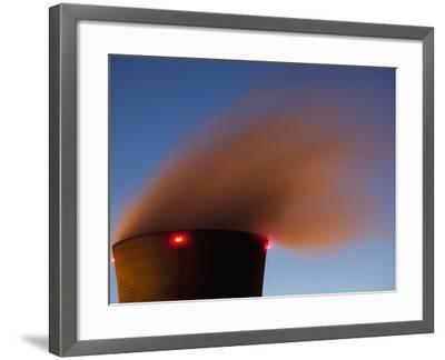 Steam from Cooling Tower at Three Mile Island Nuclear Power Plant, Middletown, Pennsylvania, Usa-Paul Souders-Framed Photographic Print