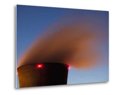 Steam from Cooling Tower at Three Mile Island Nuclear Power Plant, Middletown, Pennsylvania, Usa-Paul Souders-Metal Print