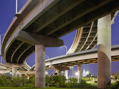 Interstate Highway Bridge Overpass at Dusk on Summer Evening, Charleston, South Carolina, Usa-Paul Souders-Framed Photographic Print